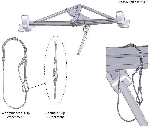 bottom rod support installation instructions