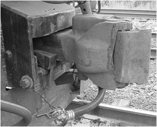 Locomotive Coupler Alignment Block